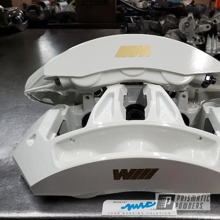 Powder Coating: Automotive,Calipers,Clear Vision PPS-2974,MUSHROOM WHITE USS-1814,BMW M,BMW,Brake Calipers,Caliper,Brembo Brake Calipers