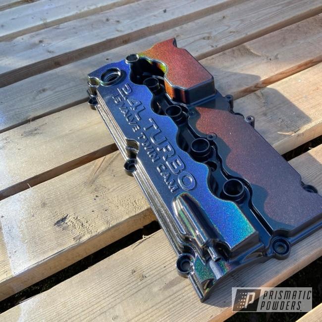 Powder Coating: Automotive,srt4,Valve Covers,Dodge,Valve Cover,Neon,Prismatic Universe PMB-10367