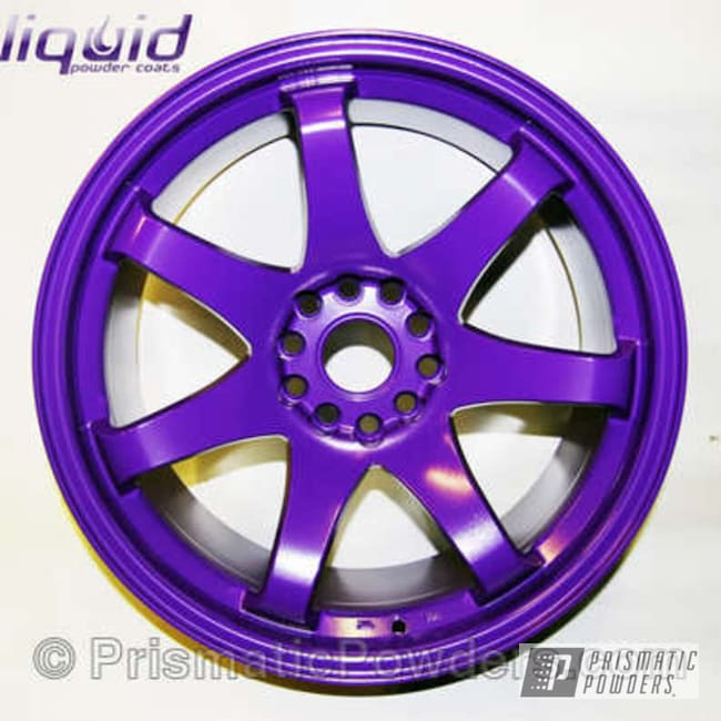 Powder Coating: Wheels,Rim,Automotive,Orchid Lavender PSS-0961,Purple wheels