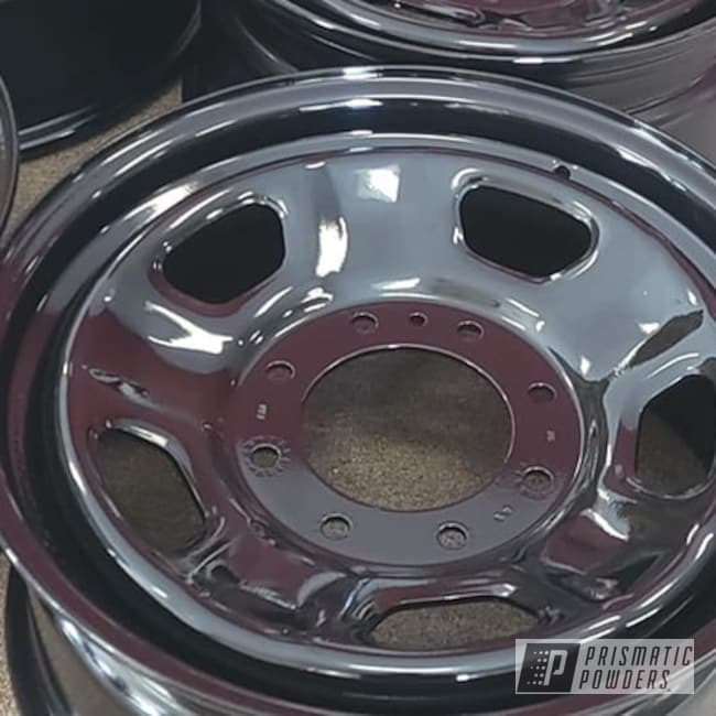 "Powder Coating: Wheels,Clear Vision PPS-2974,Rims,Ink Black PSS-0106,Steel Wheels,Automotive Rims,Automotive Wheels,Steel Rims,18"" Steel Rims"