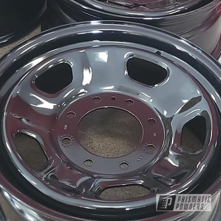 """Powder Coating: Wheels,Clear Vision PPS-2974,Rims,Ink Black PSS-0106,Steel Wheels,Automotive Rims,Automotive Wheels,Steel Rims,18"""" Steel Rims"""