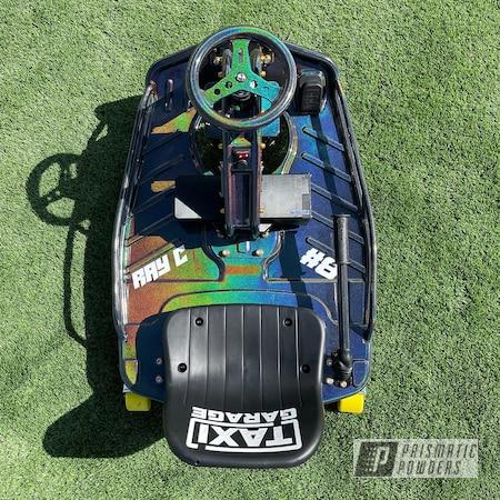 Powder Coating: Rainbows,Drift Cart,Taxi Garage Crazy Cart,Taxi Garage,Drift Kart,Drift Car,Crazy Cart,Go Cart,Prismatic Universe PMB-10367