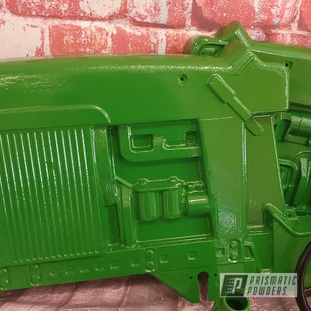 Powder Coating: Tractor Green PSS-4517,Pedal Car,Kids Toys,Pedal Tractor,RAL 1018 ZincYellow,John Deere