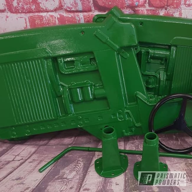 Powder Coating: Tractor Green PSS-4517,Pedal Car,Kids Toys,Pedal Tractor,RAL 1018 Zinc Yellow,John Deere