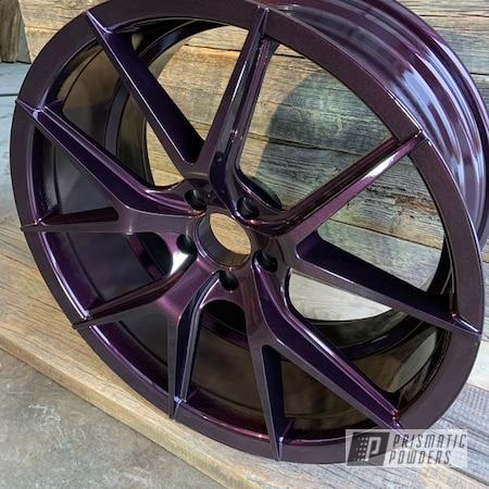 "Powder Coating: Wheels,Clear Vision PPS-2974,20"" Wheels,Rims,Misty Burgundy PMB-1042,Aluminum Wheels"