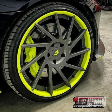 Powder Coated Two Tone Rims In Pss-7068, Pmb-5027 And Pps-4005