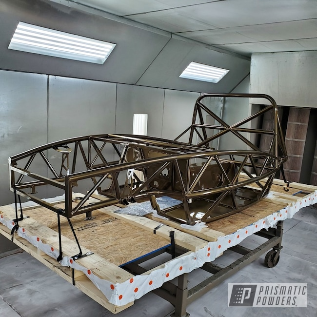 Powder Coating: Automotive,Bronze Chrome PMB-4124,chassis,Exocet Chassis,Miscellaneous