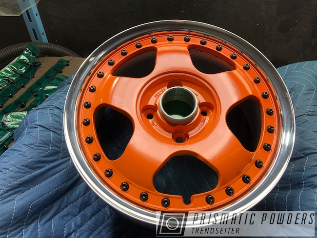 Powder Coating: Wheels,Automotive,Custom Wheels,Rims,Chevy Orange PSS-0163,Solid Tone