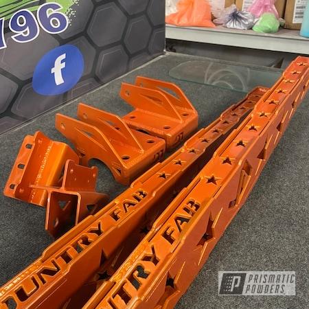 Powder Coating: Automotive,4x4,Clear Vision PPS-2974,Illusion Orange PMS-4620