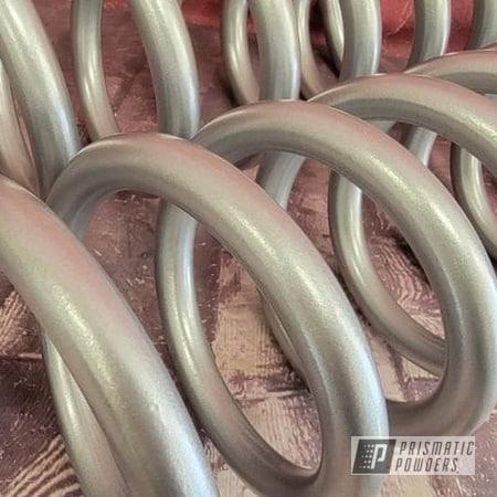 Powder Coating: Automotive,Heavy Silver PMS-0517,coil springs,Automotive Parts