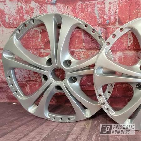 Powder Coating: Wheels,Heavy Silver PMS-0517,Wheel Faces,3 Piece Rims,Rims,Automotive Parts,Automotive Wheels,Aluminum Wheels
