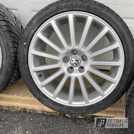 "Powder Coating: Wheels,Aristos,BMW Silver PMB-6525,Golf,Rims,Volkswagen,18"" Aluminum Rims,VW"