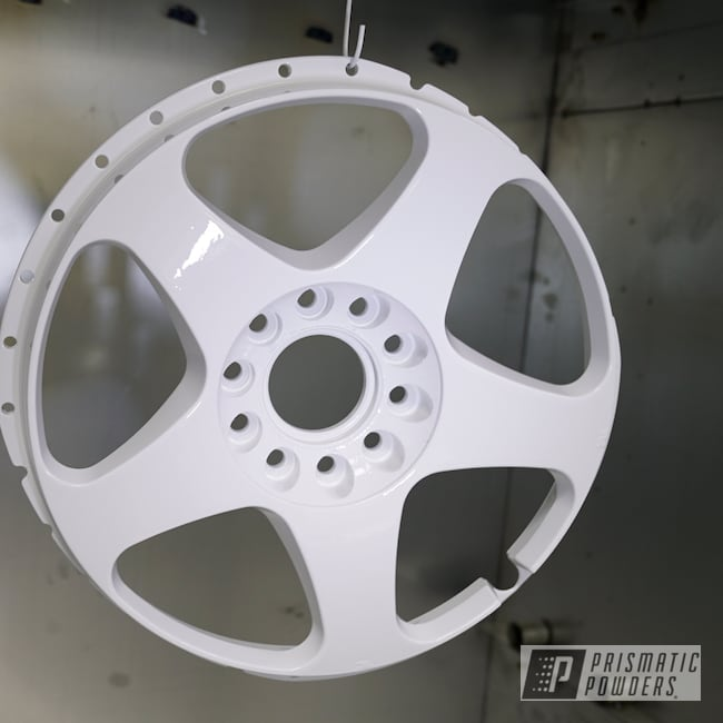"Powder Coating: Wheels,GTR,Nissan,Rims,18"" Wheels,18"" Aluminum Rims,Gloss White PSS-5690,Nismo"