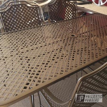 Powder Coating: Wetstone Black Bronze PWB-2539,Patio Table,Patio Furniture,Patio Chair,Outdoor Patio Furniture