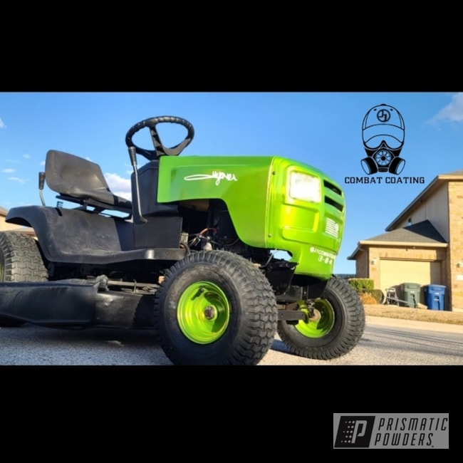 Powder Coating: Custom,ATV,Aluminum Rims,Lawn Mower,Restoration,Riding Lawn Mower,Aluminum,Murray,Riding Mower,Shocker Yellow PPS-4765