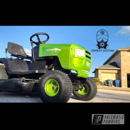 Powder Coating: Custom,ATV,Aluminum Rims,Lawn Mower,Restoration,Riding Lawn Mower,Aluminum,Murray,Riding Mower,Shocker Yellow PPS-4765