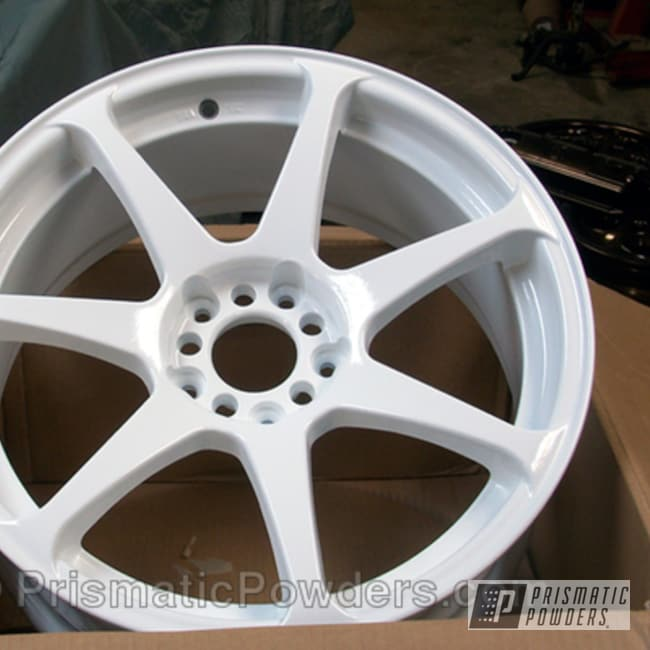 Powder Coating: Wheels,MB Battle,Snowcone White PSS-4369