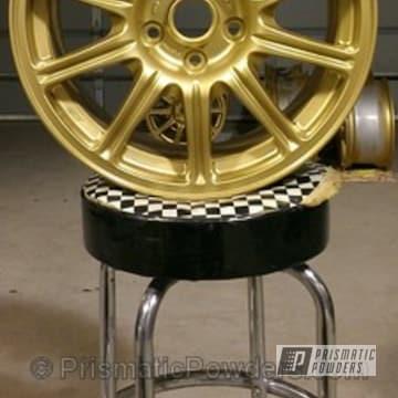Wheels Coated In Spanish Gold Powder Coat
