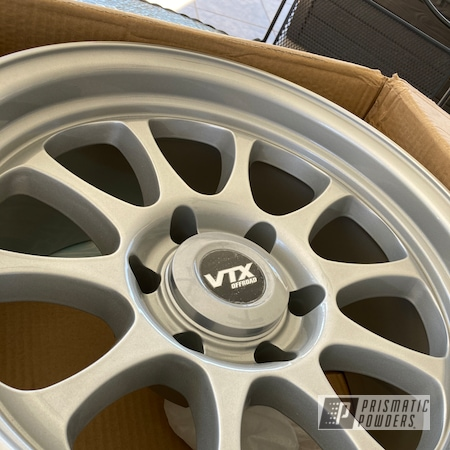 "Powder Coating: Wheels,Rims,17"" Aluminum Rims,SUV,Toyota,Aluminum,Alloy Silver PMS-4983,4runner,Aluminum Wheels"