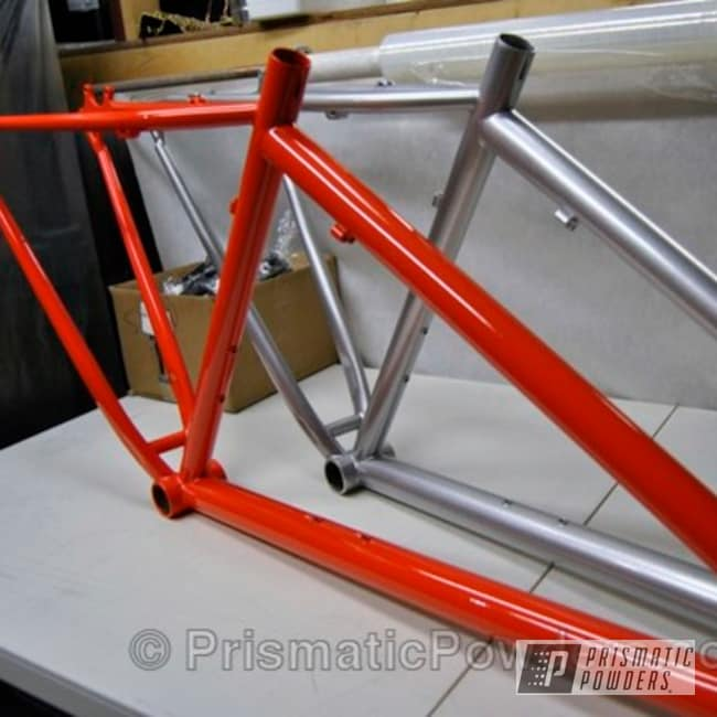Powder Coating: Bicycles,Clear Vision PPS-2974,RICH ADAMS Frame,ORANGE BLOSSOM USS-1630