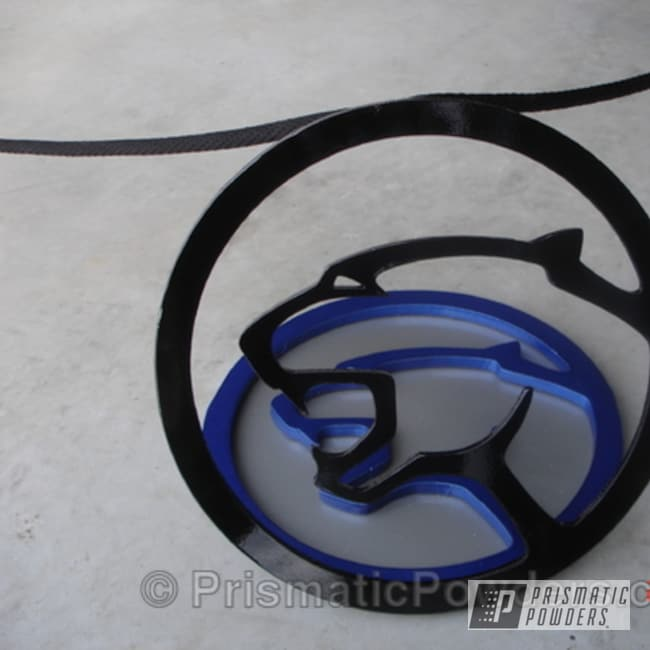 Powder Coating: Pacific Silver PMB-2811,Ink Black PSS-0106,Cougar stantions I made for a car show display,Miscellaneous