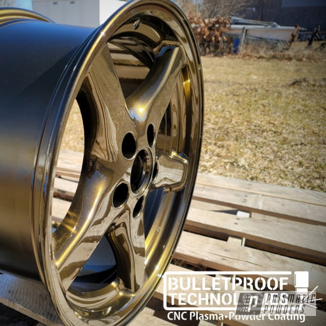 Powder Coated Wheels In Pps-2974 And Pmb-4247