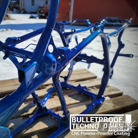 Powder Coating: ATV Frame,quad frame,Clear Vision PPS-2974,ATV,Illusion Blueberry PMB-6908,Illusions,4 Wheeler,quad