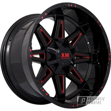 Powder Coated Accented Wheels In Ups-1506