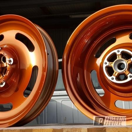 Powder Coating: Wheels,Harley Davidson,Motorcycle Rims,Rims,Harley Wheels,Motorcycles,V - Rod,Trans Copper II PPS-2618,Aluminum Wheels