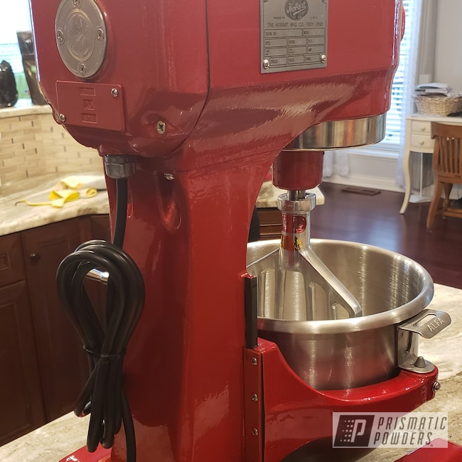 Powder Coating: Kitchen,Clear Vision PPS-2974,Industrial Mixer,Illusion Red PMS-4515,Household