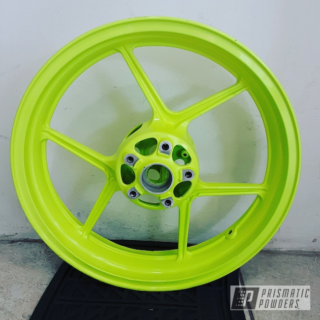 "Powder Coating: Ninja,Automotive,ZX10R,17"" Aluminum Rims,Neon Yellow PSS-1104"