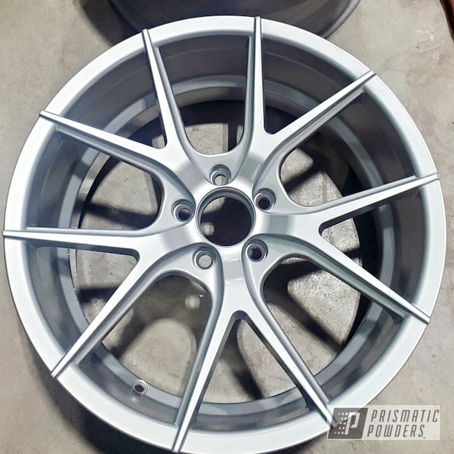 "Powder Coating: Automotive,Satin Silver PMS-1438,19"" Aluminum Rims,Casper Clear PPS-4005,Aluminum Wheels"