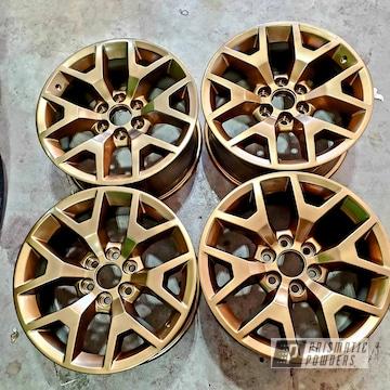 """20"""" Aluminum Wheels Powder Coated In Bronze Chrome"""