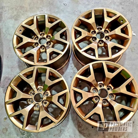 "Powder Coating: Automotive,20"" Wheels,Bronze Chrome PMB-4124,Aluminum Wheels"