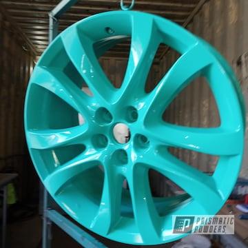 Powder Coated Alloy Enkei Wheels In Tropical Breeze