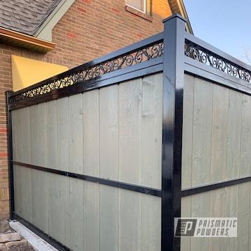 Custom Home Fence Powders Coated In Gloss Black