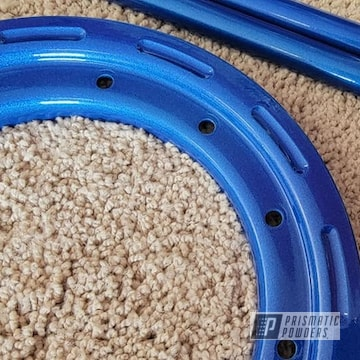 Quad Parts Powder Coated Illusion Smurf And Clear Vision