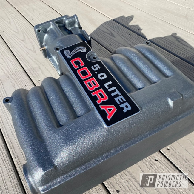 Powder Coated Ford Mustang Cobra Intake Manifold In Ironsides Ii