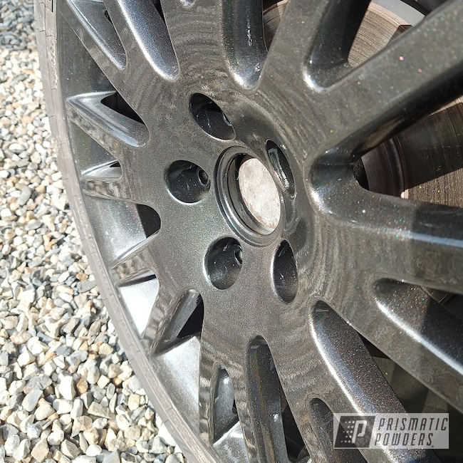 "Powder Coating: Automotive,Graphite Charcoal PMB-5458,17"" Wheels,Audi A4"