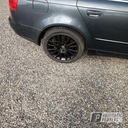 "Powder Coating: Automotive,Graphite Charcoal PMB-5458,17"" Wheels,Audi A4"