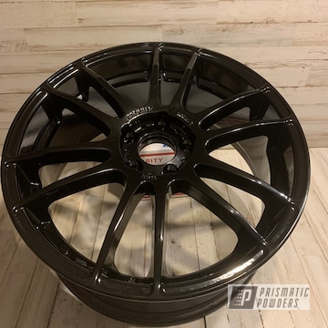 Ford Focus Aluminum Wheels Coated In Ink Black