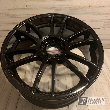 "Powder Coating: Automotive,Ink Black PSS-0106,Focus,18"" Aluminum Rims,Car Parts,Ford"