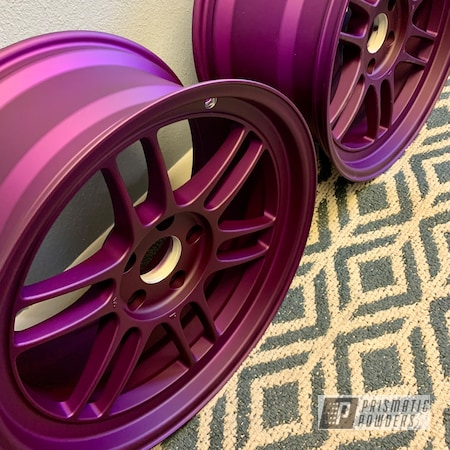 "Powder Coating: Illusion Purple PSB-4629,Automotive,Enkie,Subaru,18"" Aluminum Rims,Casper Clear PPS-4005"