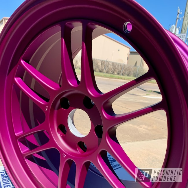 "Powder Coating: Illusion Purple PSB-4629,Automotive,Enkie,Subaru,18"" Aluminum Rims,Casper Clear PPS-4005"