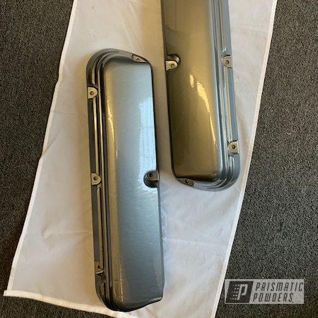 Powder Coating: Automotive,Clear Vision PPS-2974,Valve Covers,ULTRA BLACK CHROME USS-5204,Ford,Mustang