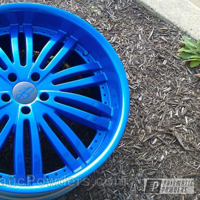 Powder Coating: Wheels,Automotive,Cream Soda Blue PMB-4141