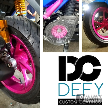 Powder Coated Motorcycle Wheels In Pmb-10046 And Pps-2974
