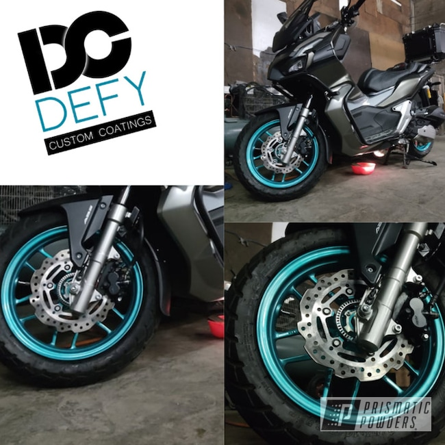 Powder Coating: Wheels,Motorcycle Rims,Rims,HD TEAL UPB-1848,Motorcycle Wheels,Motorcycles