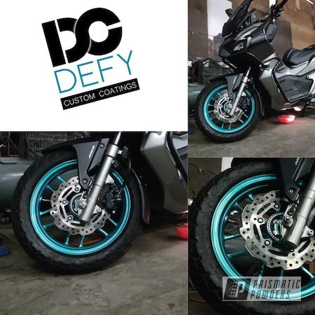 Powder Coating: Wheels,Motorcycle Rims,Rims,HD TEAL UPB-1848,Motorcycle Wheels,Motorcycles