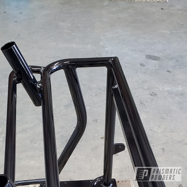 Powder Coating: Boat Parts,Bench,Boat,RAL 9005 Jet Black,Seat